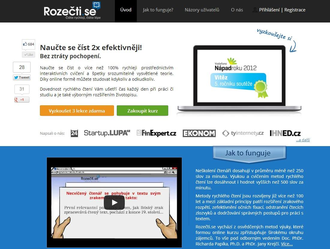 Webové stránky rozectise.cz