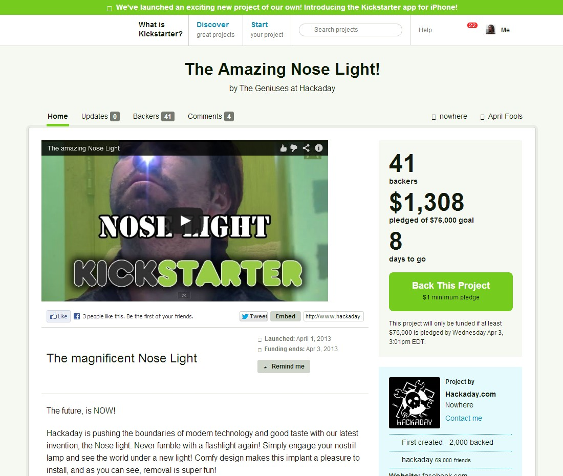 Nose Light