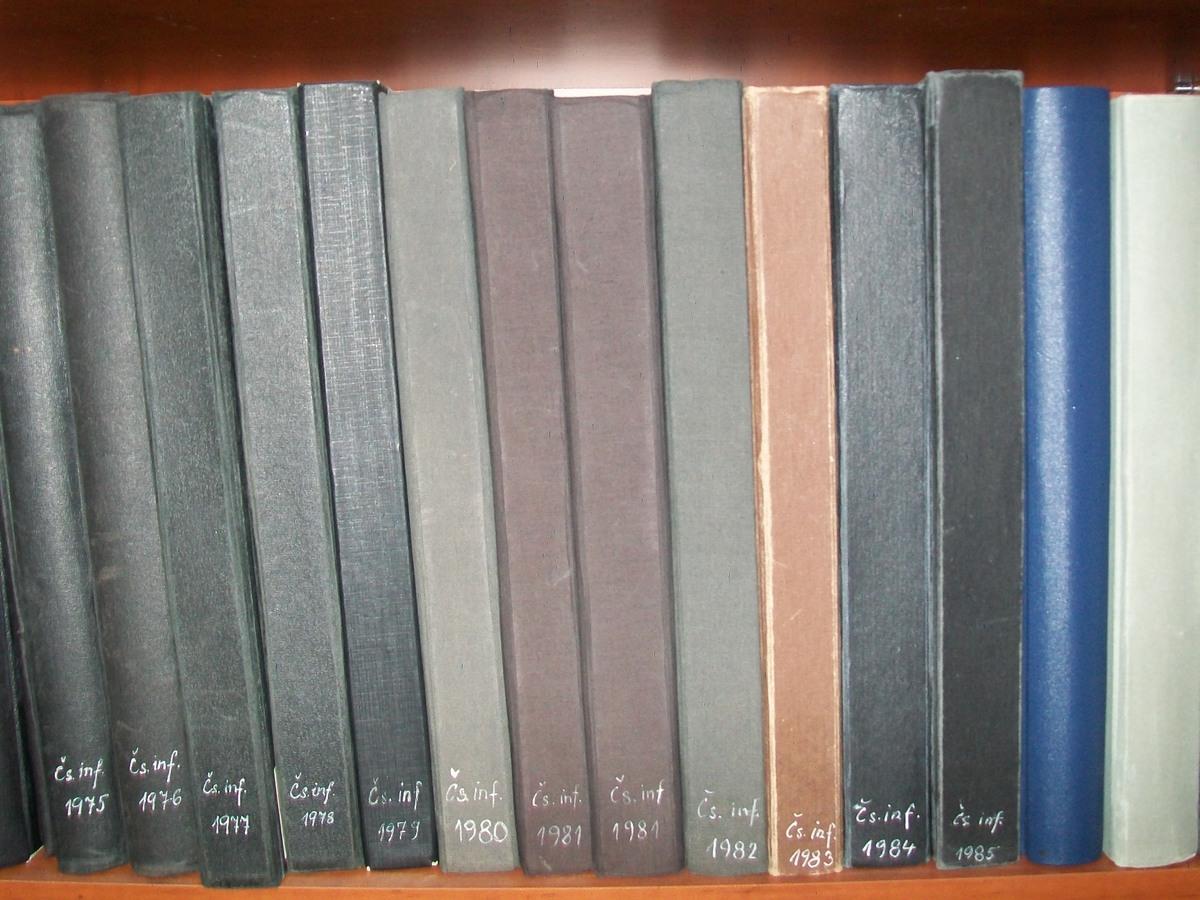 Svázaná periodika jsou k dispozici v pevné vazbě