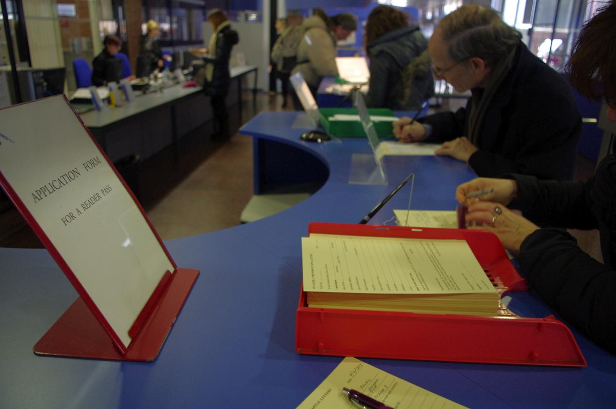 Registrace v knihovně
