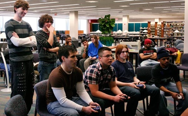 Knihovnický herní turnaj v Lansing Community College Library