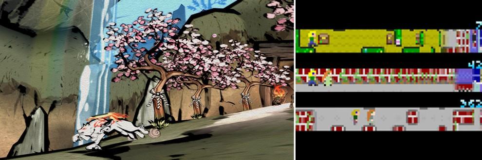 Příklady uměleckých her: Okami a Passage