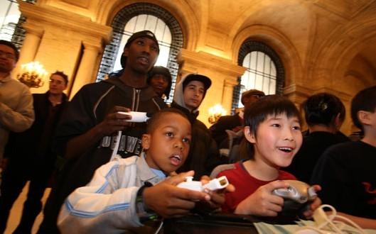 Pravidelné herní akce pro veřejnost probíhají například v pobočkách New York Public Library