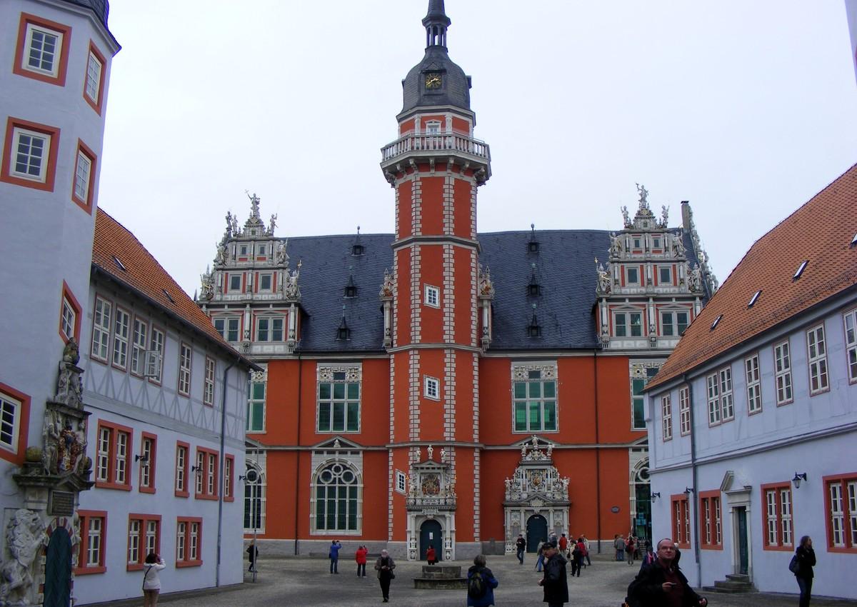 Nádvoří bývalého univerzitního komplexu v Helmstedtu