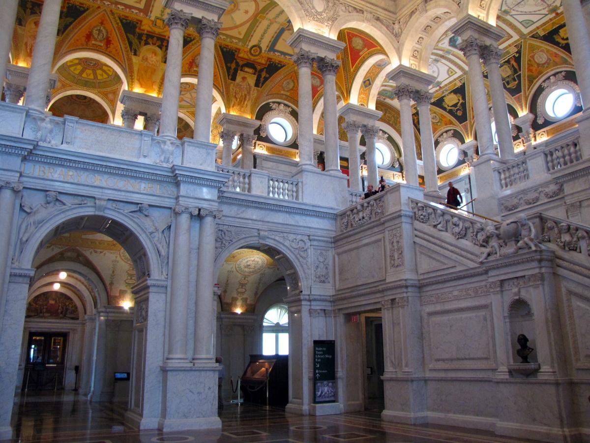 Prohlídka Kongresové knihovny