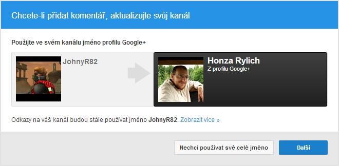 Výzva k používání profilu na Google+