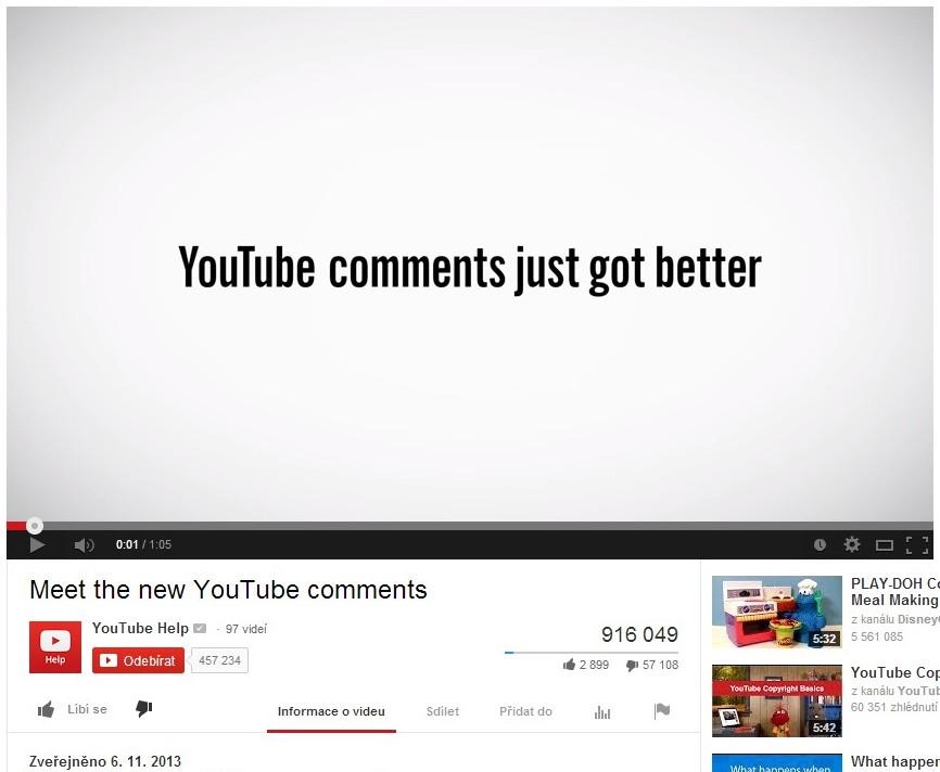 Představení nových komentářů