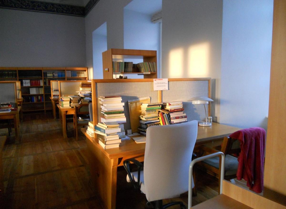 Stará budova knihovny - studijní místa
