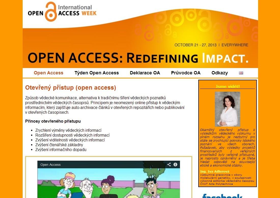 Webové stránky openaccess.cz