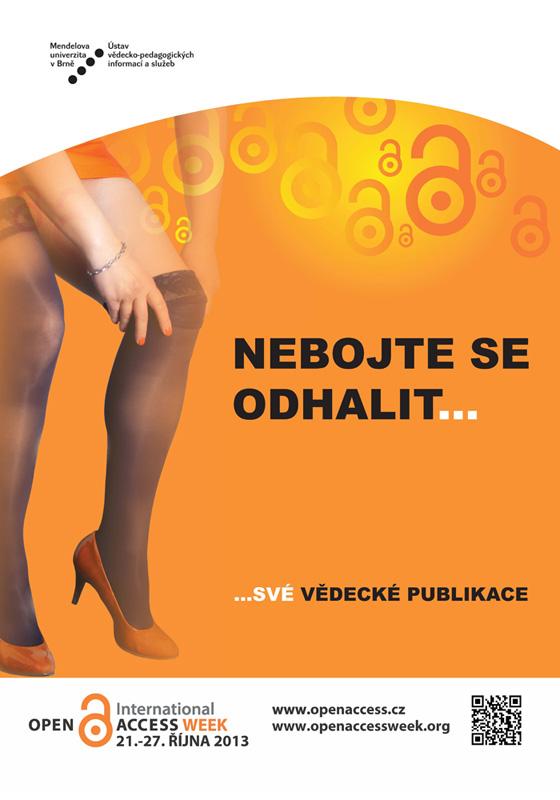 Plakát na Mendelově univerzitě