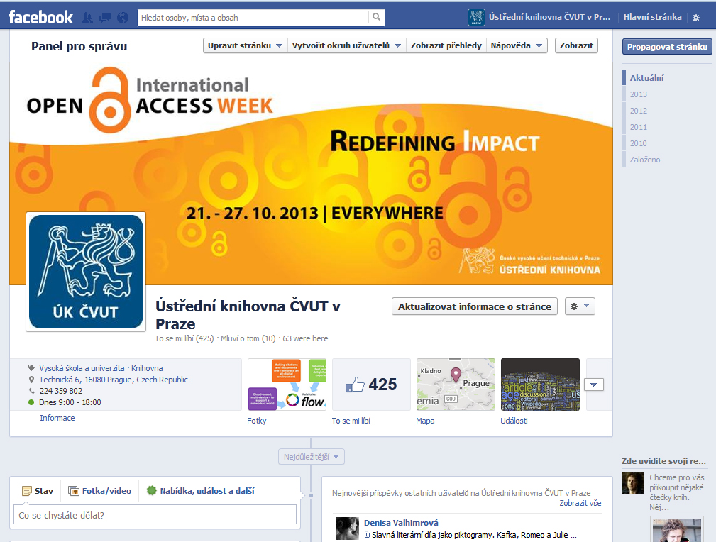 Open Access Week na ČVUT