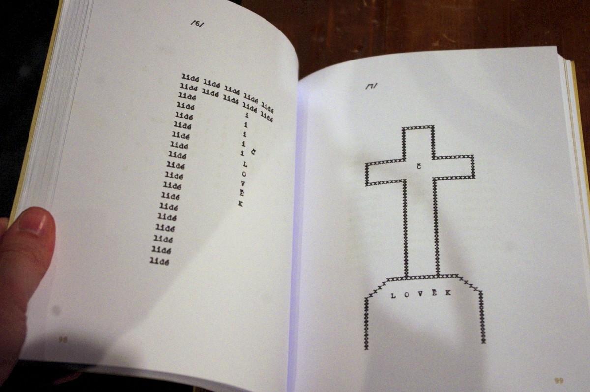 Ukázka z Havlovy knihy, která byla inspirací pro dramatickou stavbu představení