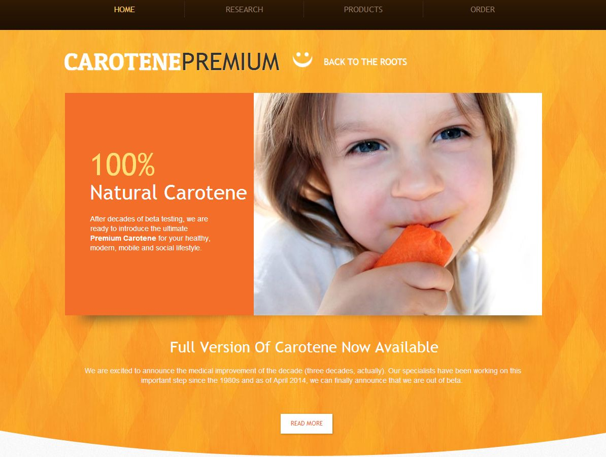 Webové stránky Carotene Premium