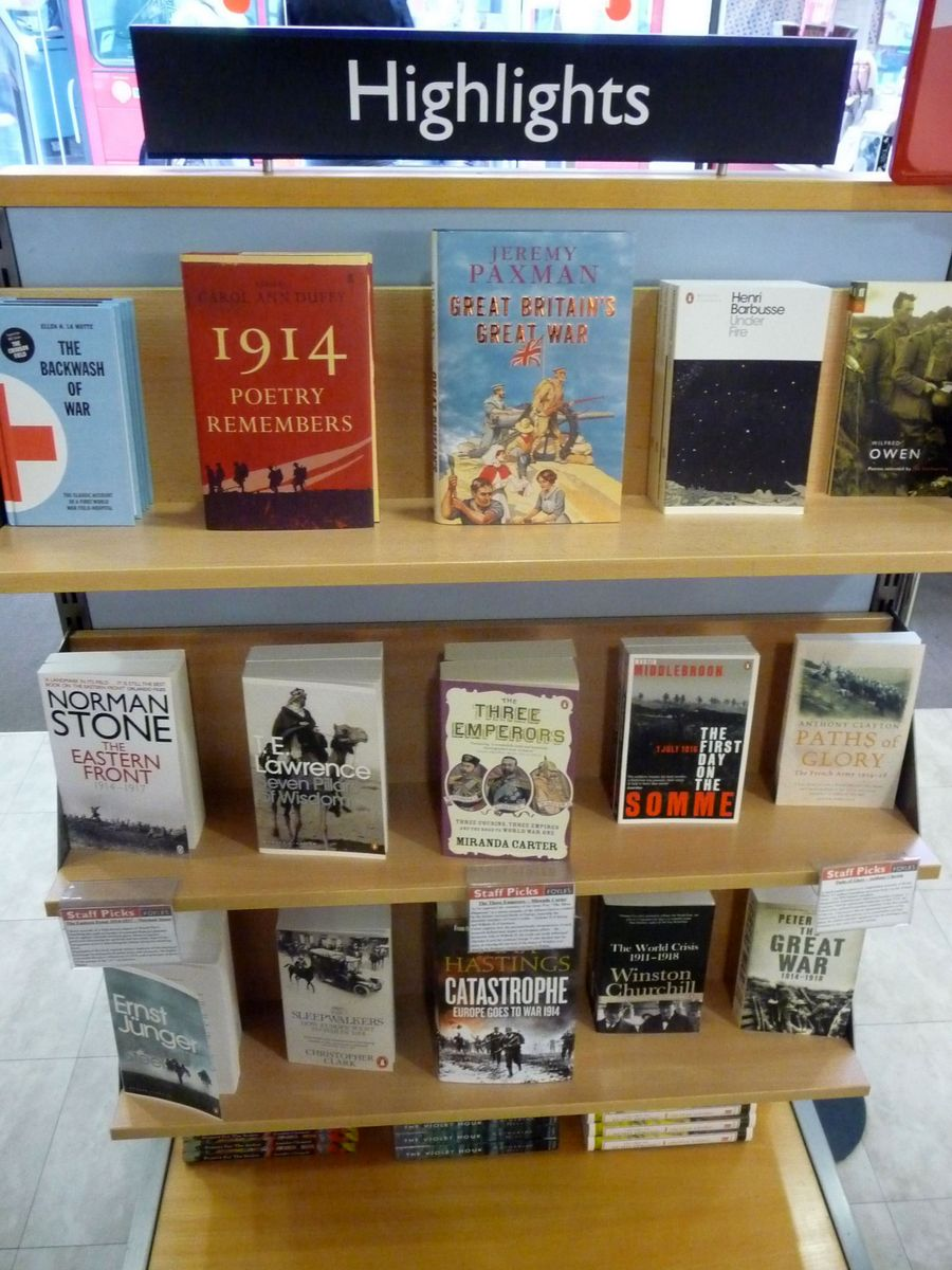 Knihy s tematikou první světové války