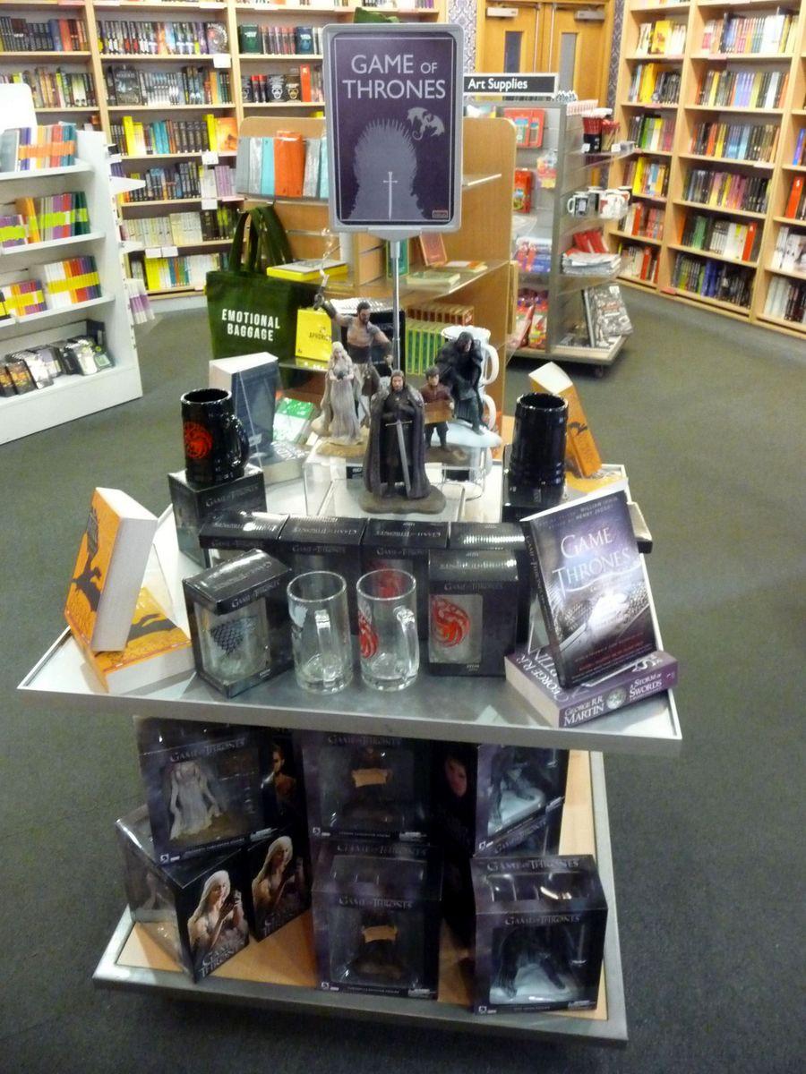 Knihy a výrobky inspirované seriálem Hra o trůny