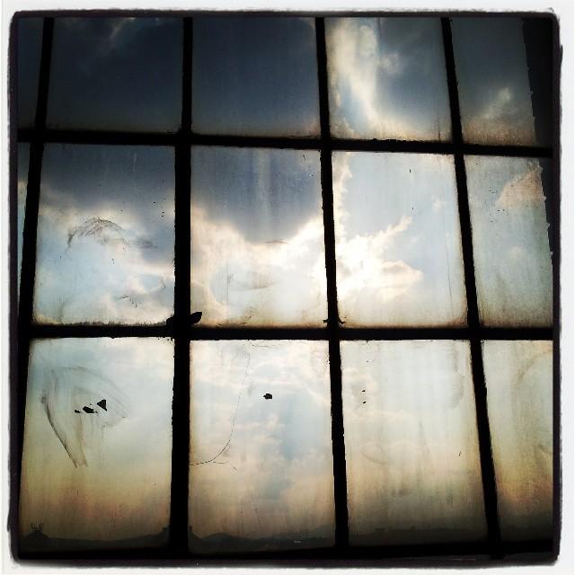 Pohled z okna galerie
