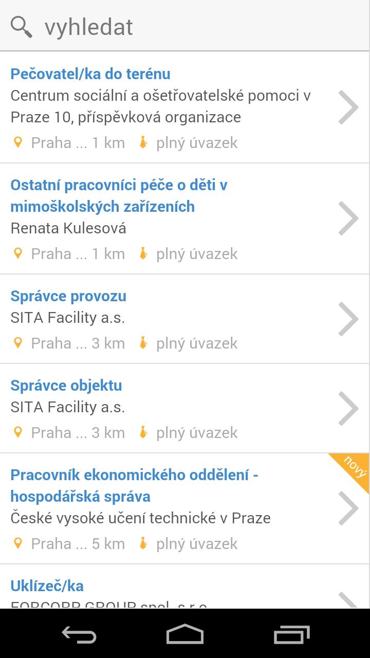 Ukázky grafického rozhraní aplikace