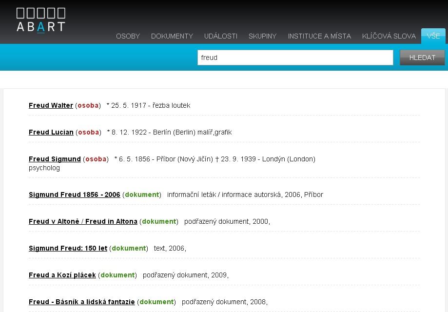 Nové uživatelské rozhraní portálu abART