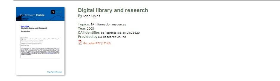 Ukázka záznamu s Tříděním Kongresové knihovny