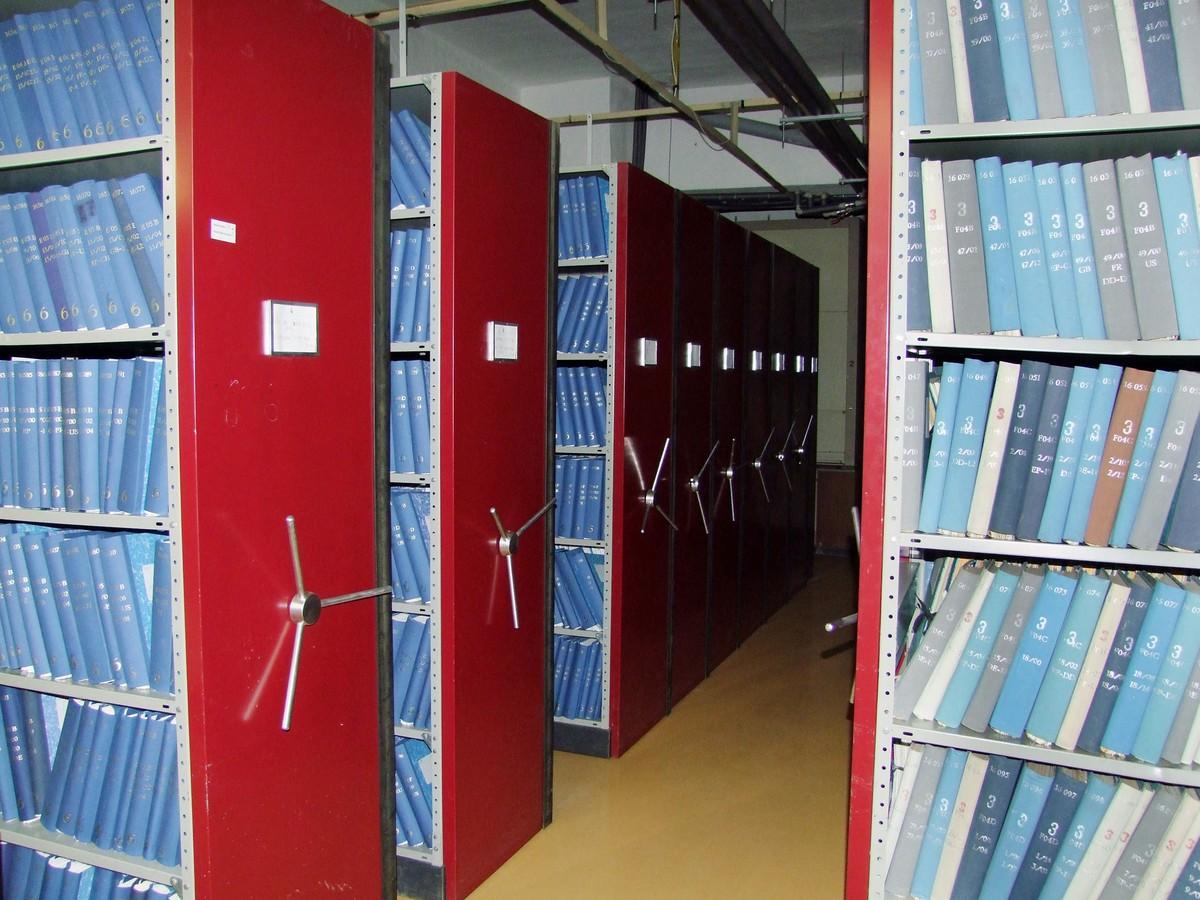 Pohled do archivu Úřadu průmyslového vlastnictví