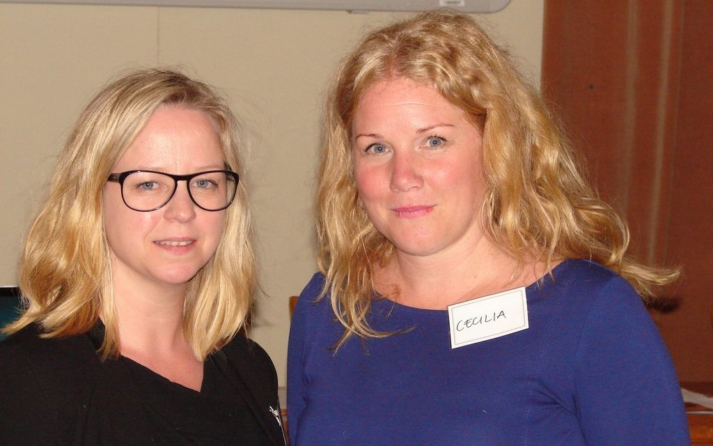 Linda Vidlund a Cecilia Petersson