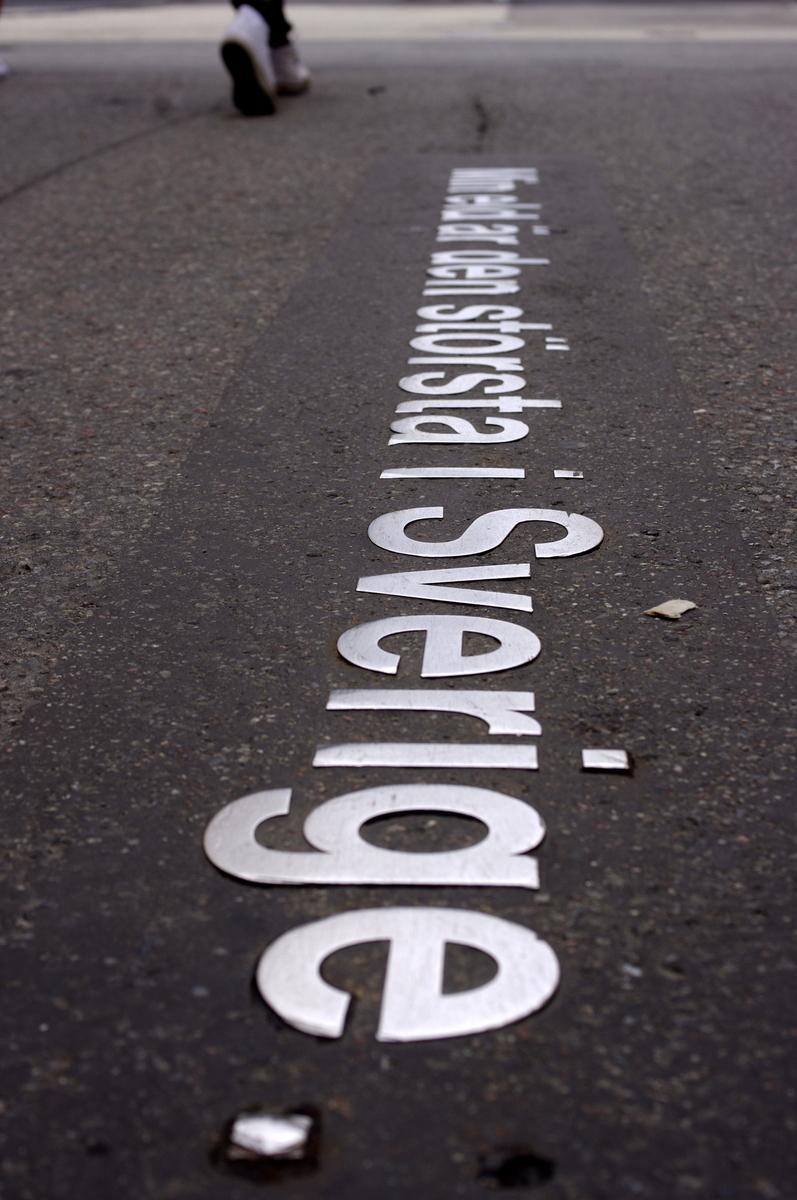 Strindberovy výroky lemující ulice