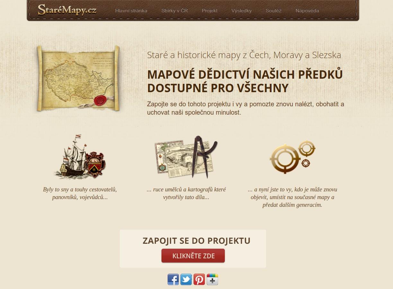 Projekt StaréMapy.cz