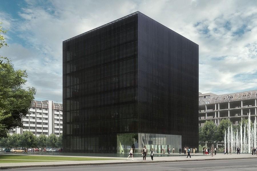 Návrh budovy Černá kostka