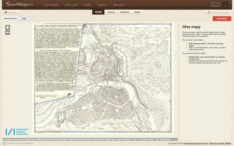 Ořez okrajů mapy