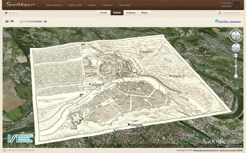 Přiložení mapy na 3D snímek v Google Earth