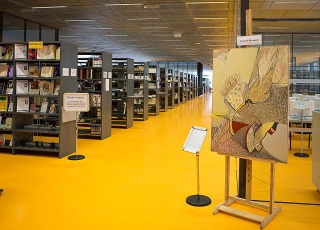 Po celý rok byly ve vstupní hale knihovny instalovány zajímavé výstavy