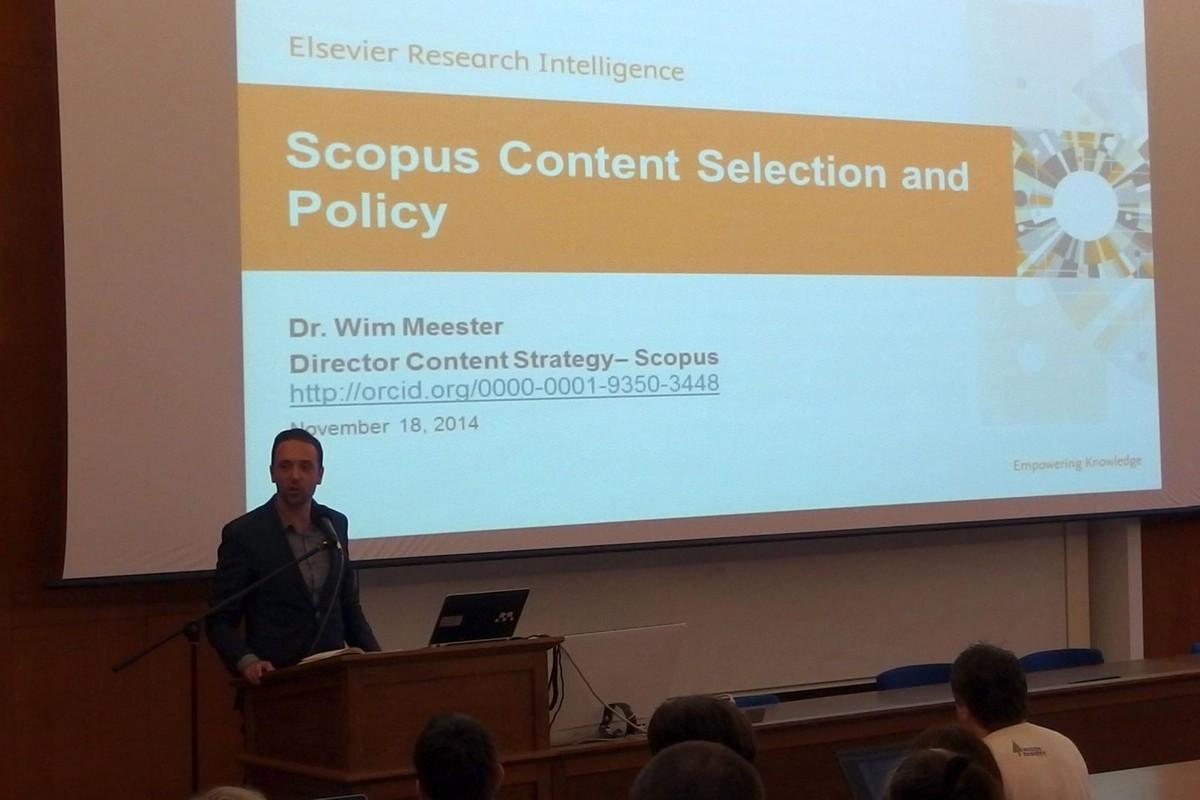 Wim Meester, ředitel obsahové strategie Scopusu