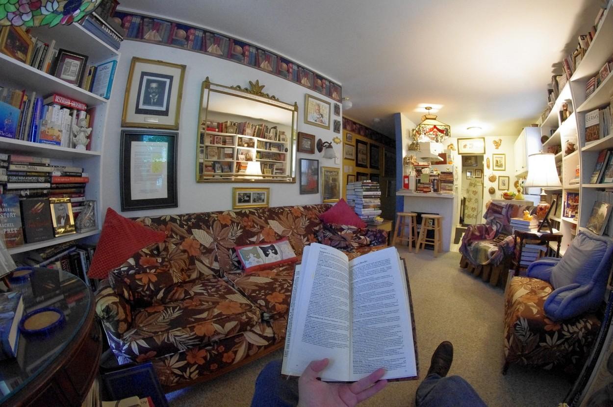 V takovémhle penzionu najdete knihy i v kuchyni