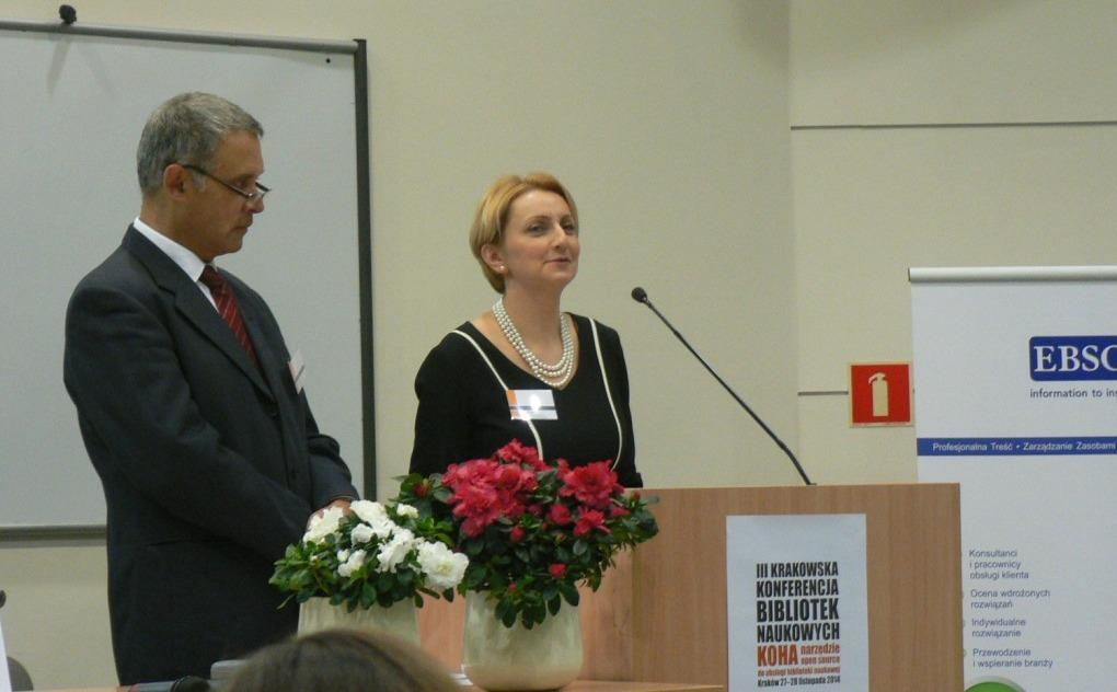 Zahájení konference - Aneta Januszko-Szakiel (Akademie A. F. Modrzewskiego) a Marek M. Gorski (Polytechnika)