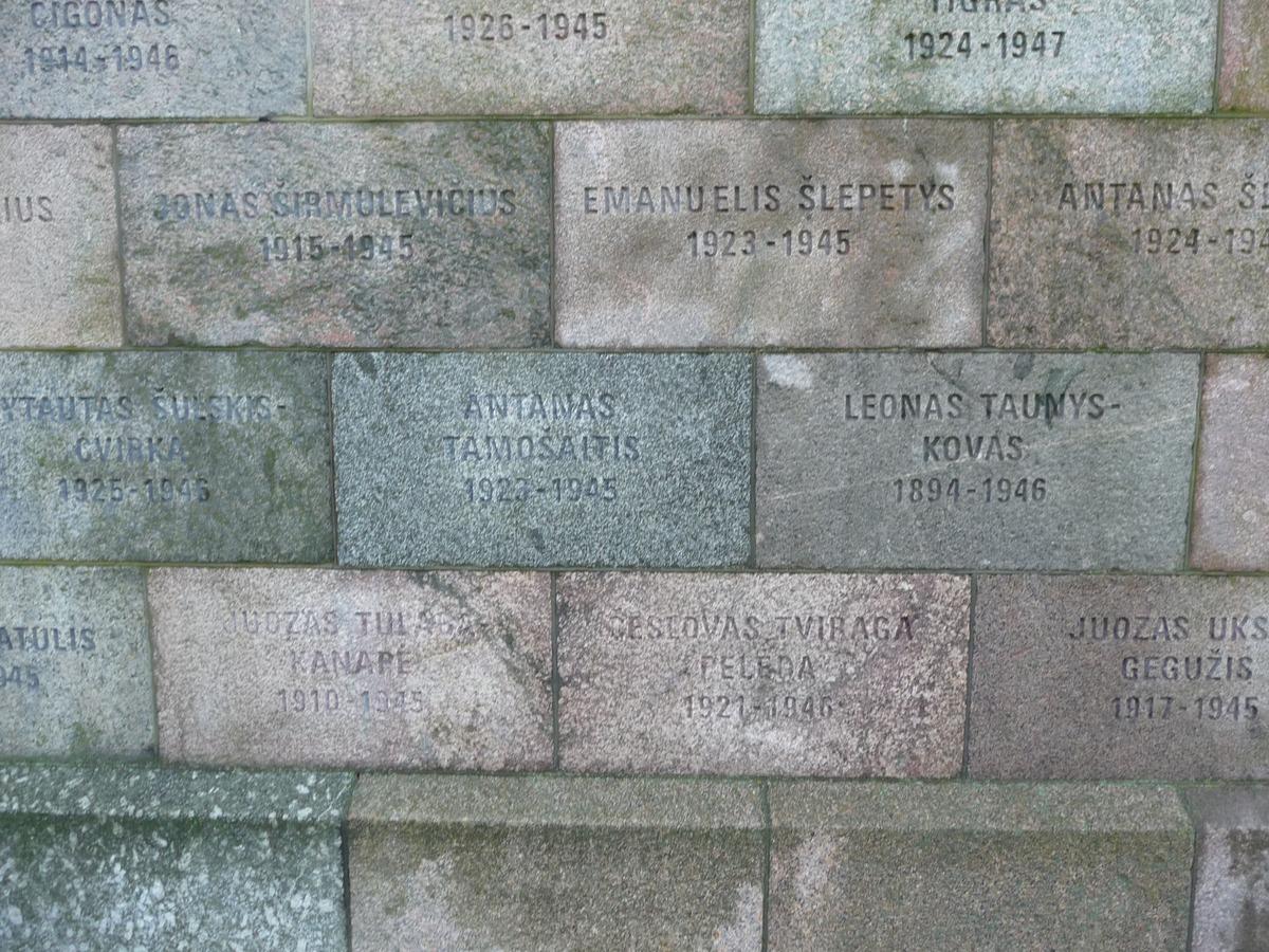 Jména umučených a popravených v budově, kde sídlila KGB a dříve Gestapo