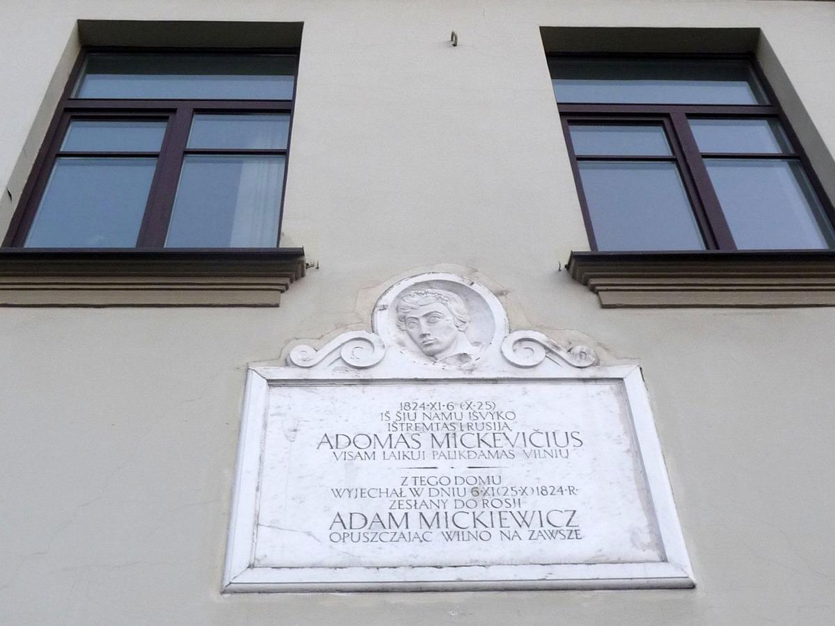 Pamětní deska A. Mickiewicze