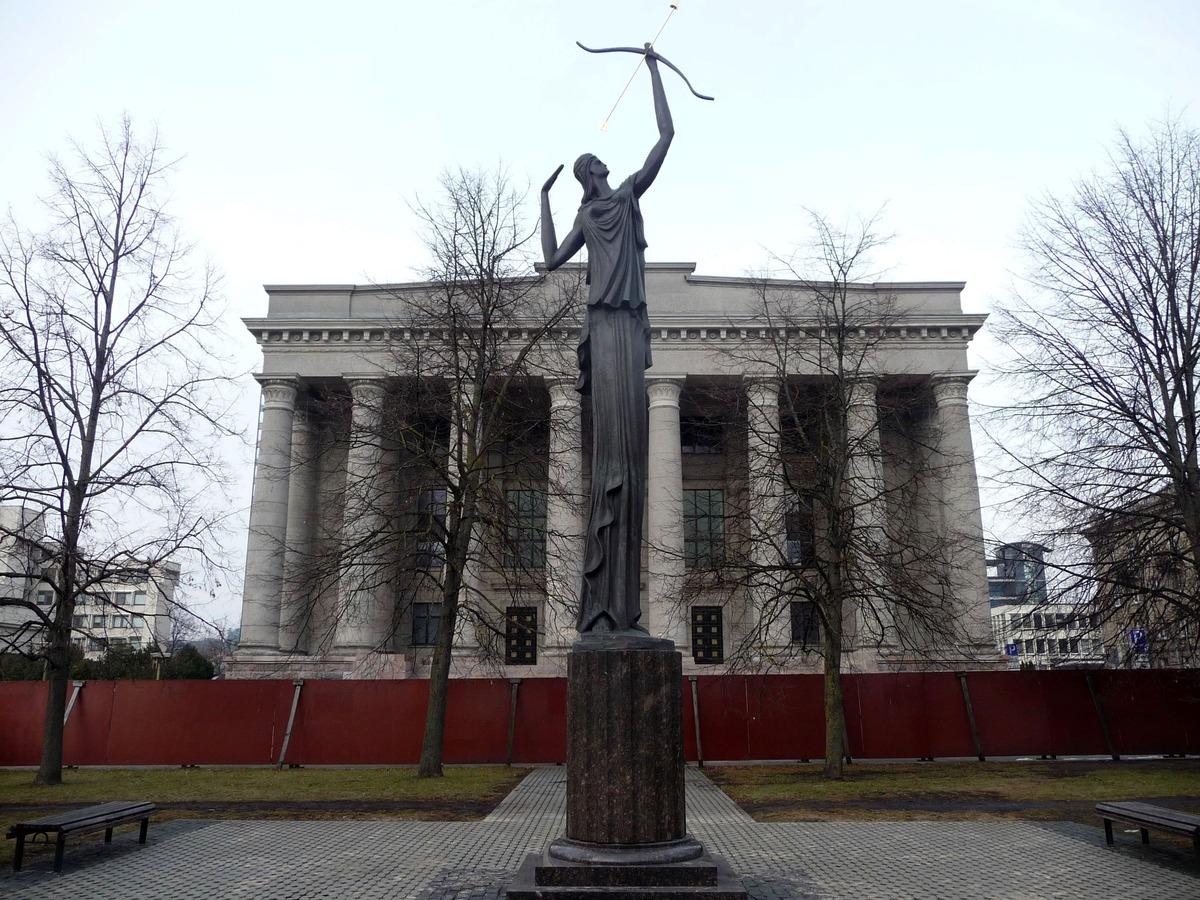 Budova Národní knihovny, která právě prochází rekonstrukcí