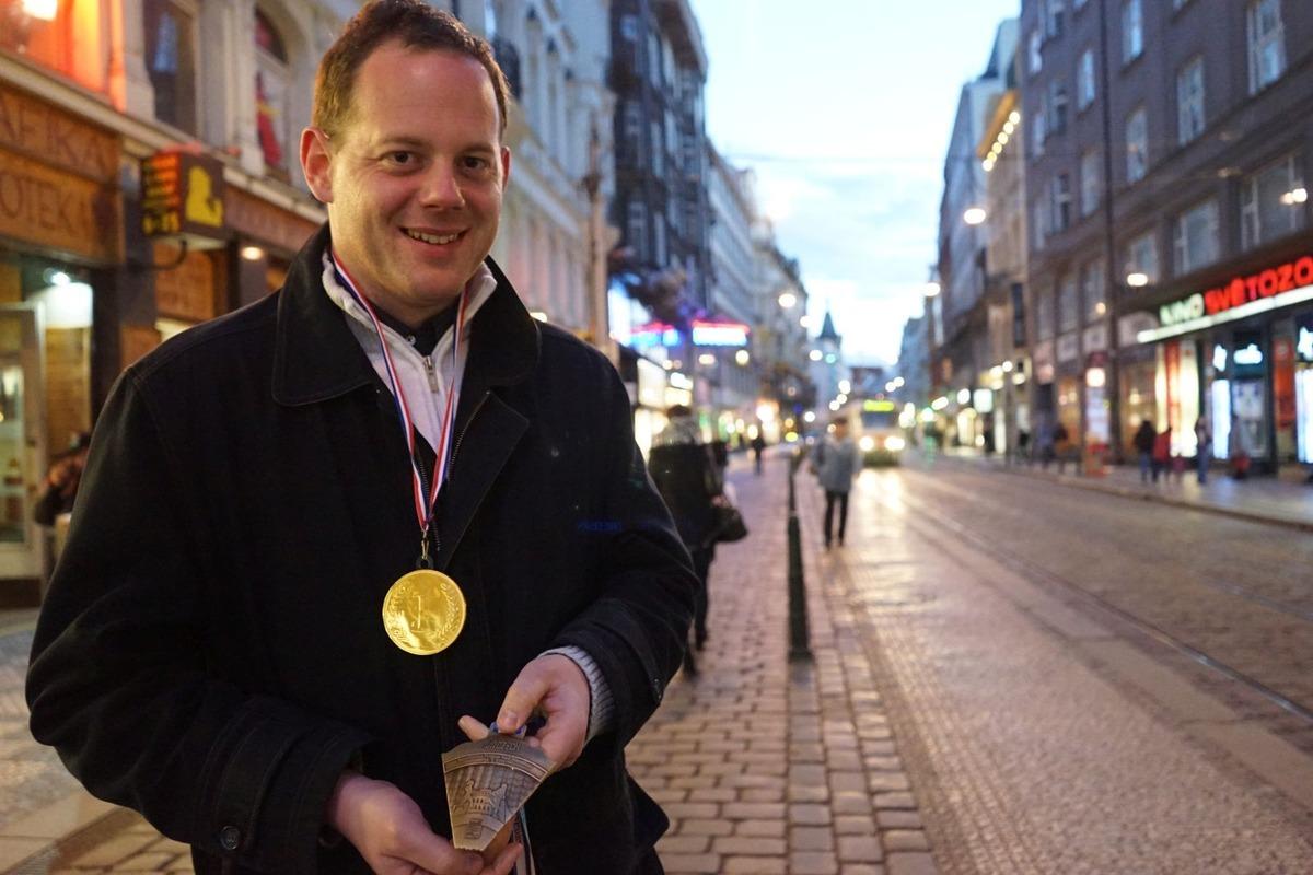 Medaile z pražského půlmaratonu