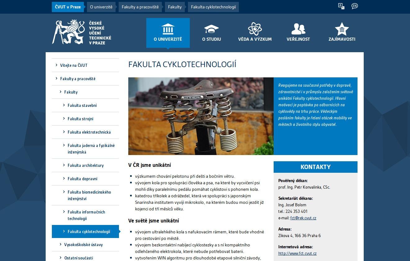 Fakulta cyklotechnologií na ČVUT