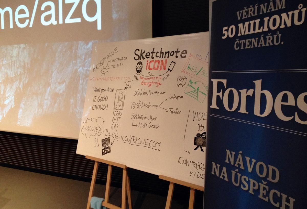 Sketchnoting na iCONferenci v praxi