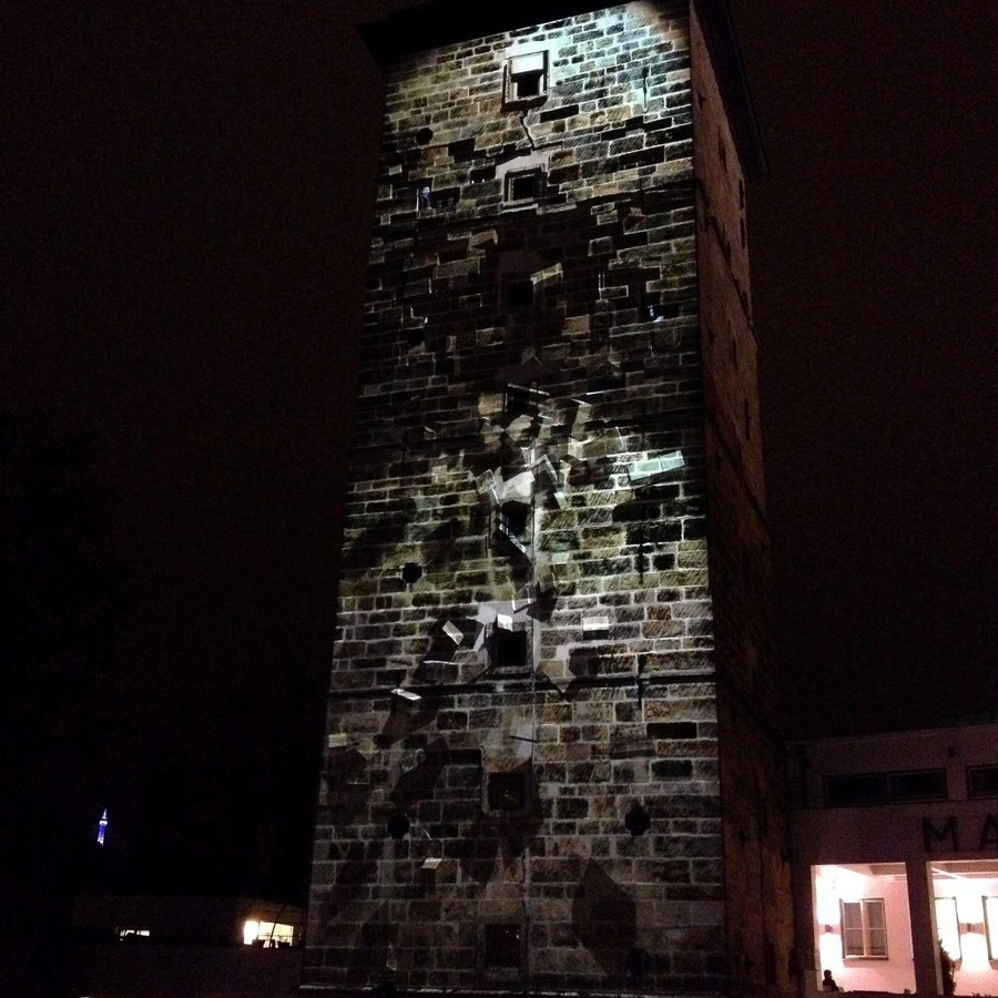 Projekce Faces na Šítkovskou vodárenskou věž