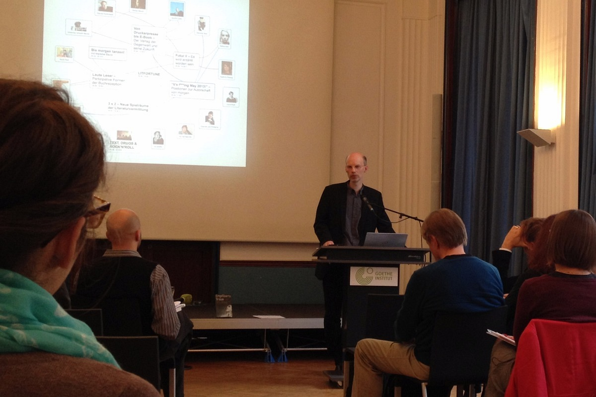 Dr. Guido Graf z Institutu tvůrčího psaní a literární vědy