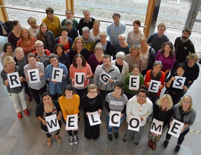 Heslo kampaně Refugees welcome