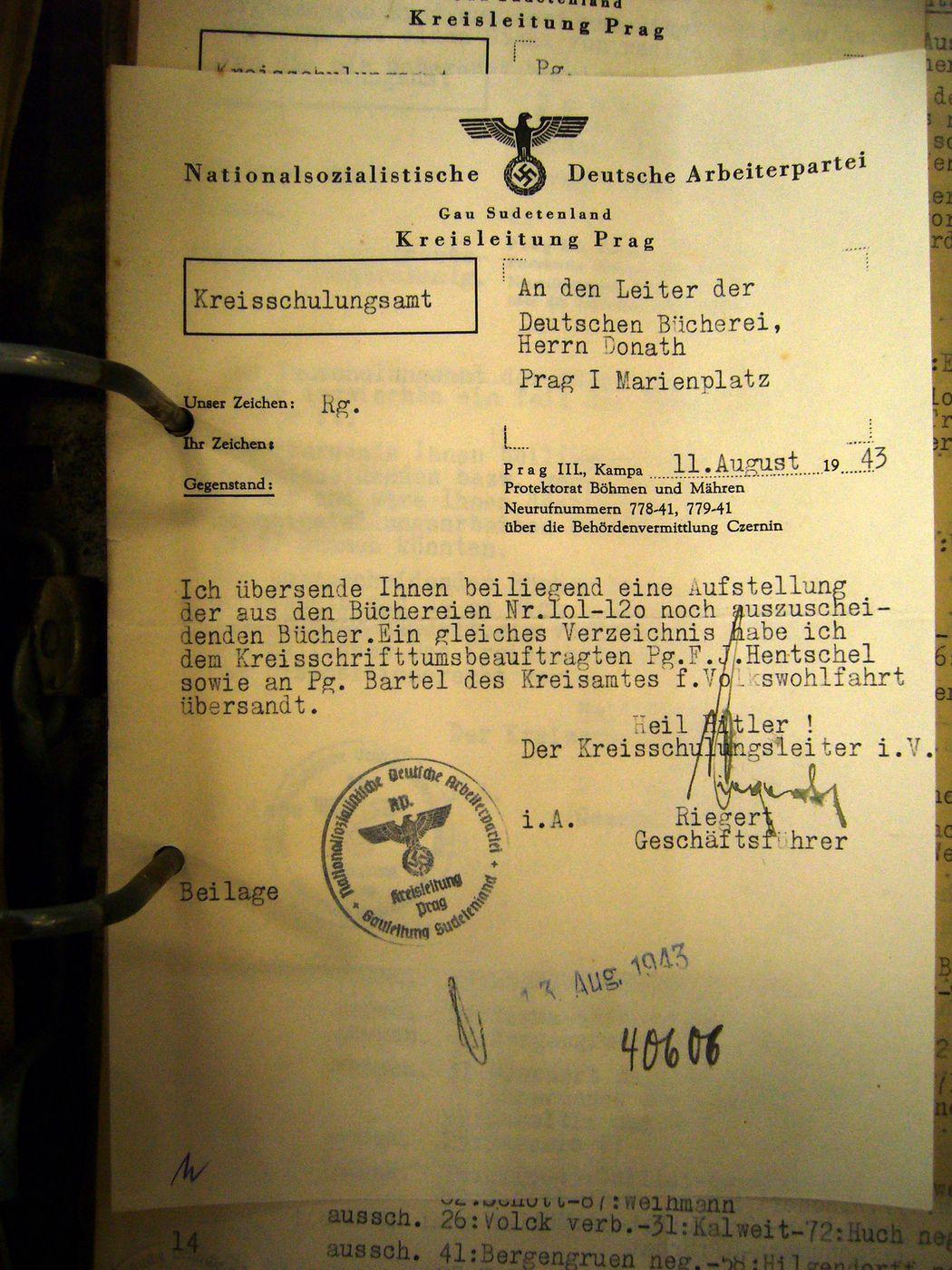 Ukázky dokumentů, které se týkají knihoven v období po provedení správní reformy