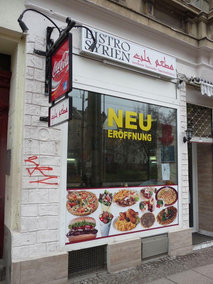 Jeden z obchodů soustředěných na multikulturní Eisenbahnstrasse