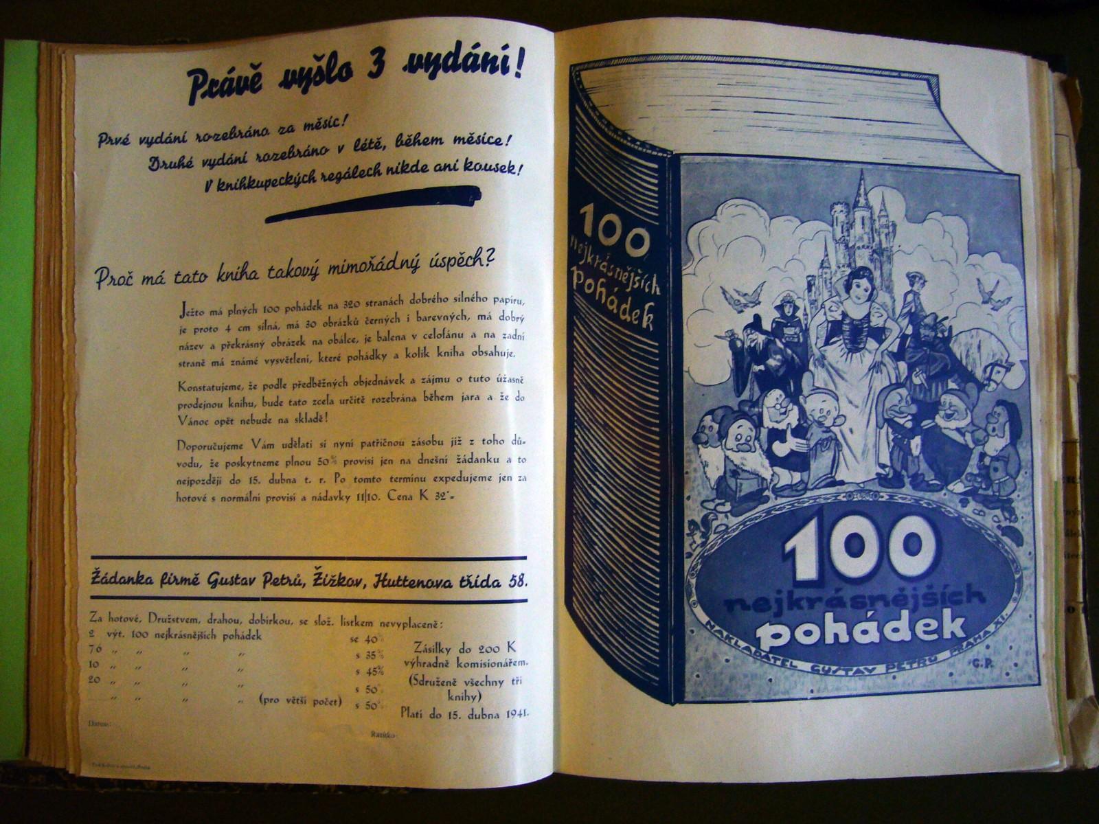 Informace o vydání knihy 100 nejkrásnějších pohádek