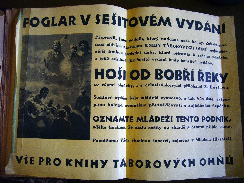 Informace o vydání knih Jaroslava Foglara v sešitech