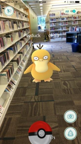 Lov na pokémony v Canton Public Library