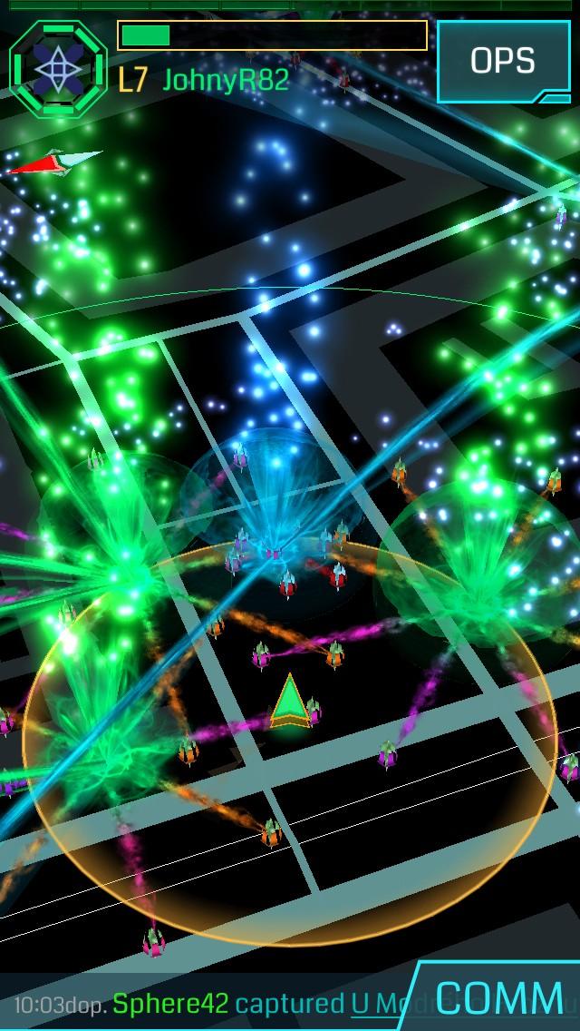 Herní mapa v aplikaci Ingress