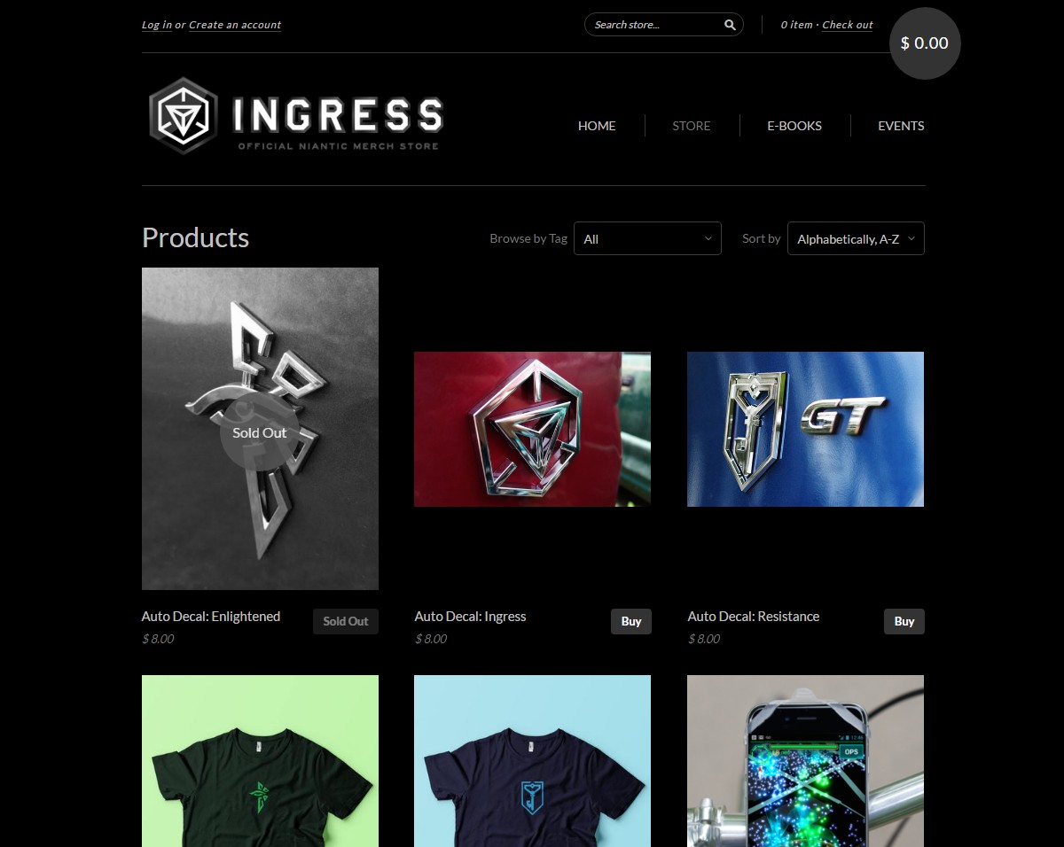 Oficiální e-shop Ingress